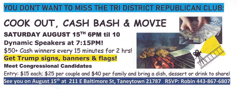 TDRC Cook Out Cash Bash and Movie Summer Picnic