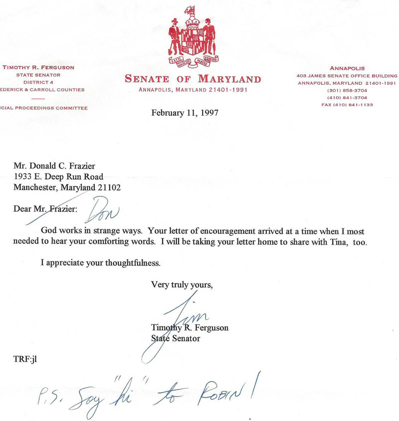Letter of Appreciation to-Tri-District Republican Club of MD