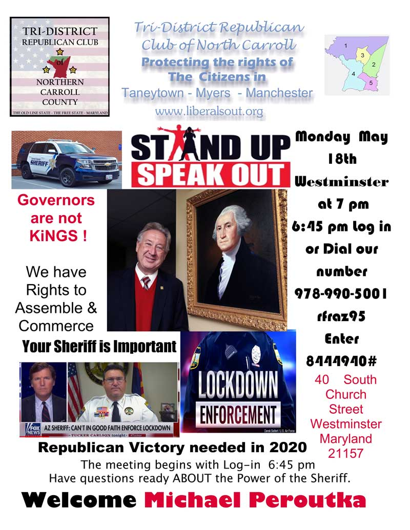 Join us for our Virtual Tri-District Republican Club Meeting For March, 2020